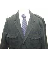 GAP Sports Military Type Men's Jacket Blazer Black Lined XL 100% Cotton - $32.36