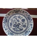 "4 Vintage Blue Onion 10"" Blue Dinner Plate 3113 England Enoch Wedgewood ... - $39.95"