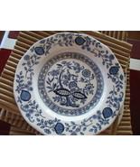 """4 Vintage Blue Onion 7"""" Blue Sandwich Plates England Enoch Wedgewood Lon... - $39.95"""