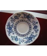 "5  Vintage Blue Onion 6"" Blue Saucers England Enoch Wedgewood Tunstand Ltd - $35.95"