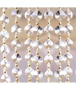 "39"" Magnificent Clear Octagon Crystal Garland prisms Wedding Decor Gold ... - $15.45"