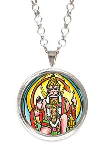Hanuman the Humanitarian God for the Ultimate Evolved Path Silver Pendant wit...