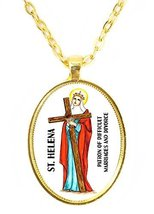 St Helena For Difficult Marriages & Divorce Huge 30x40mm Bright Gold Pen... - $14.95