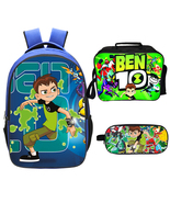 Ben 10 Backpack Lunch Box Pencil Case Outdoor School Package D - $45.99
