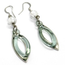 Earrings Antica Murrina Venezia, Hanging, Double Oval Stack, Green image 1