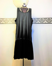 Rare 1950's Sheer Black Nightgown with Pleated Skirt, Vintage Negligee, ... - $39.99