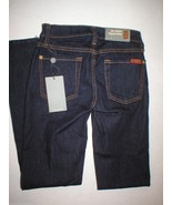 New 7 FAM For All Mankind Jeans 23 24 X 29 Skinny Cigarette Dark USA Des... - $88.00