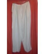 Pants White Rafaella Size 10 52% Lenin-48% Rayon - $5.34