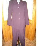 Women's Vintage 2 Pc. Suit By Elliott Lauren (12) Dark Plum Career Polye... - $65.00