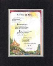 Touching and Heartfelt Poem for Friends - [A Friend of Mine. ] on 11 x 1... - $16.33