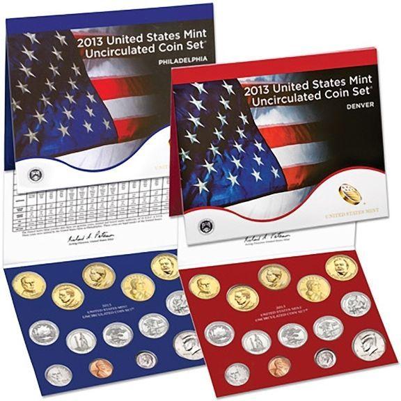 2013 UNOPENED P & D US MINT UNCIRCULATED 28 PIECE COIN SET 14 D Mint +14 P Mint
