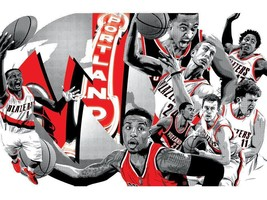 Portland Trail Blazers Team Comicon Poster RARE Giveaway from 2/10/16 Li... - $13.98