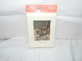 """Hallmark Set of 8 Invites """" Please Come"""" Wine and cheese Front Picture - $5.93"""