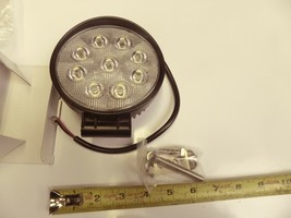 "THM 2X-LED-R-27W-FLOOD 4"" Round 27W LED Work Light Spot Light Flood Light 4 Pack image 1"