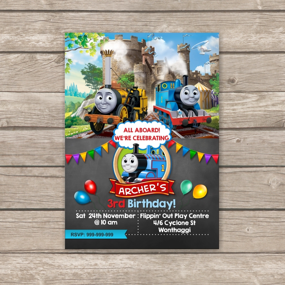 Thomas The Train Invitation Thank You Card And 50 Similar Items