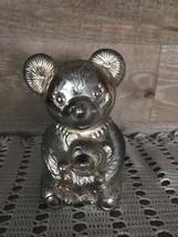 Metal Teddy Bear and Baby Bear Bank Vintage - $33.19