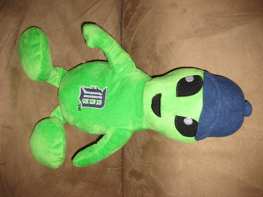 DETROIT TIGERS ALIEN Brand New 2013 MLB Licensed stuffed animal - $7.99