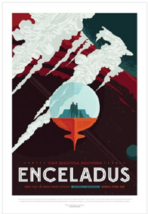 NASA Visions of the Future Enceladus Poster - $39.00