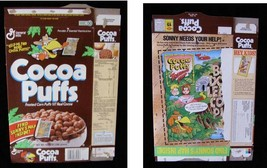Cocoa Puffs Sonny's Map Vintage Cereal Box Flat Empty Box - $16.99