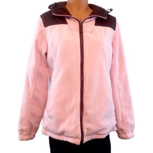 Free Country Reversible Pink & Brown Ladies Women's Coat Jacket Large