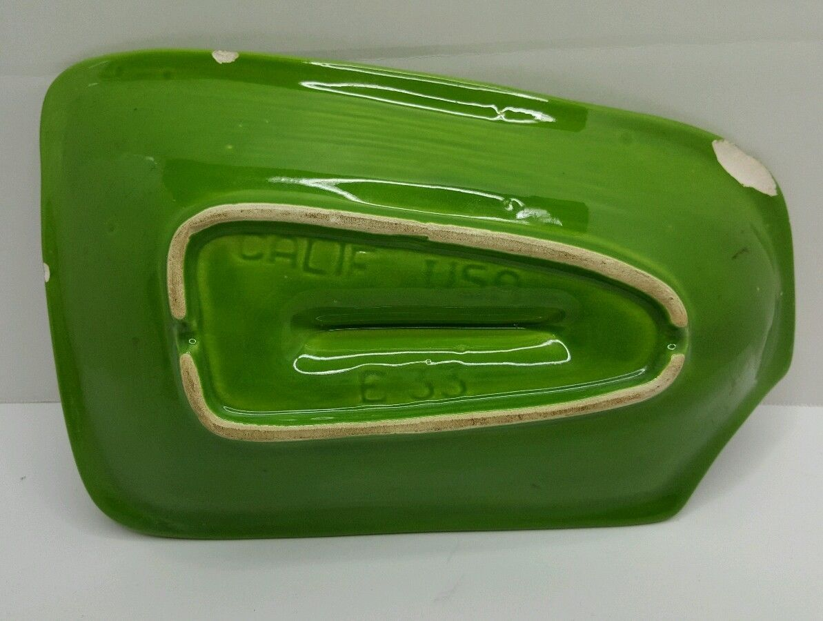 Ashtray, Retro Green By California USA Pottery Mid Century 9""
