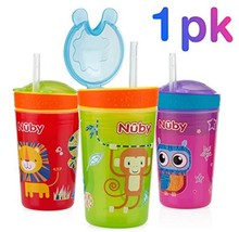 Nuby 1pk Snack N' Sip 2 in 1 Snack and Drink Cup - Colors May Vary - $8.31