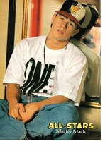 Marky Mark Wahlberg Luke Perry teen magazine pinup clipping by a mirror Bop