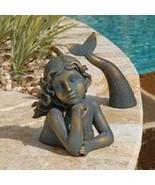Siren of the Sea Mermaid Sculpture Garden Lawn Pool Patio Verdigris Stat... - $59.35
