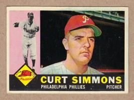 1960 Topps #451 Curt Simmons Philadelphia Phillies Near Mint NM condition - $64.35