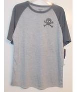 Cherokee Boys Sleep T-Shirt Gray with Skull and... - $9.49