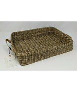 Hearth & Hand with Magnolia Seagrass Tray (Woven) w/ Leather Handles **R... - $24.44