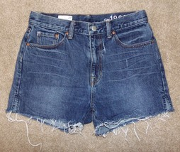 Gap Jean Shorts 27 High Rise Fringe Cut Offs 4 - $19.62