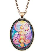 Healing Transformation Huge 30x40mm Amulet Talisman Antique Copper Penda... - $14.95
