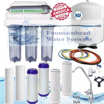 6 Stage Alkaline Reverse Osmosis 75 GPD Clear Housings Faucet Choice Ex Filters - $150.38