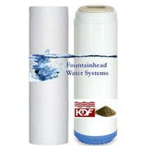 Fountainhead Carbon/Kdf55 Chlorine/ Heavy Metals/Voc's  Sediment Filters Set - $32.00