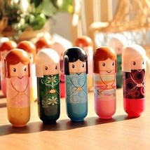 Lip Balm Cute Japanese Doll - 5 Pieces With Design and Color maybe vary