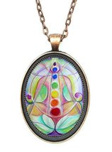 Love Lotus Chakras Huge 30x40mm Antique Copper ... - $14.95
