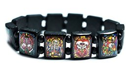 Whimsical Skulls Black Wood Stretch Bracelet [Jewelry] - $14.95