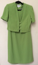 Dress and Blazer Short Sleeve, 100% Polyester Neon Green. Size 10 R. - $12.00