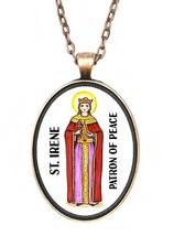 St Irene Patron of Peace Huge 30x40mm Antique Copper Pendant [Jewelry] - $14.95