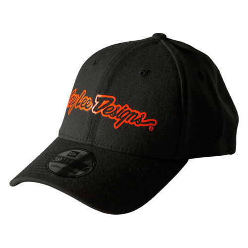 New Era Troy Lee Designs Brand 2.0 Medium - Large (M-L) Flexfit Hat Black Orange