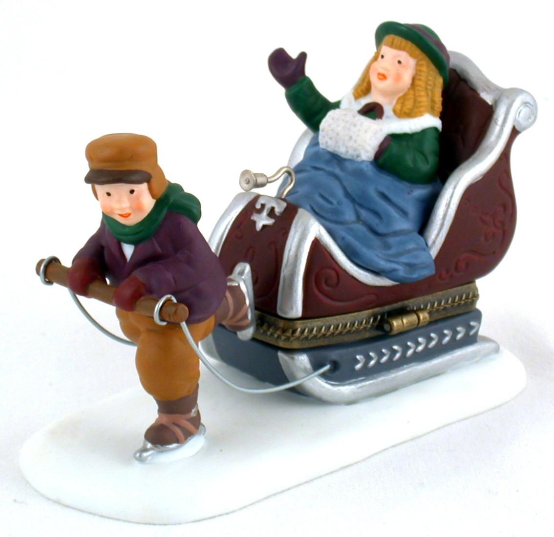 Dept 56 Heritage Village Sleighride Trinket Box Figure 57502 - $9.00