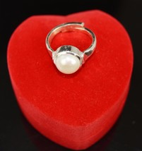 23.50 Ct Certified Round Natural White Pearl Gemstone Astrological Ring ... - $12.59
