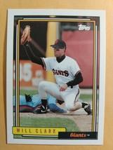TOPPS 1992 CARD #330 WILL CLARK - $0.99