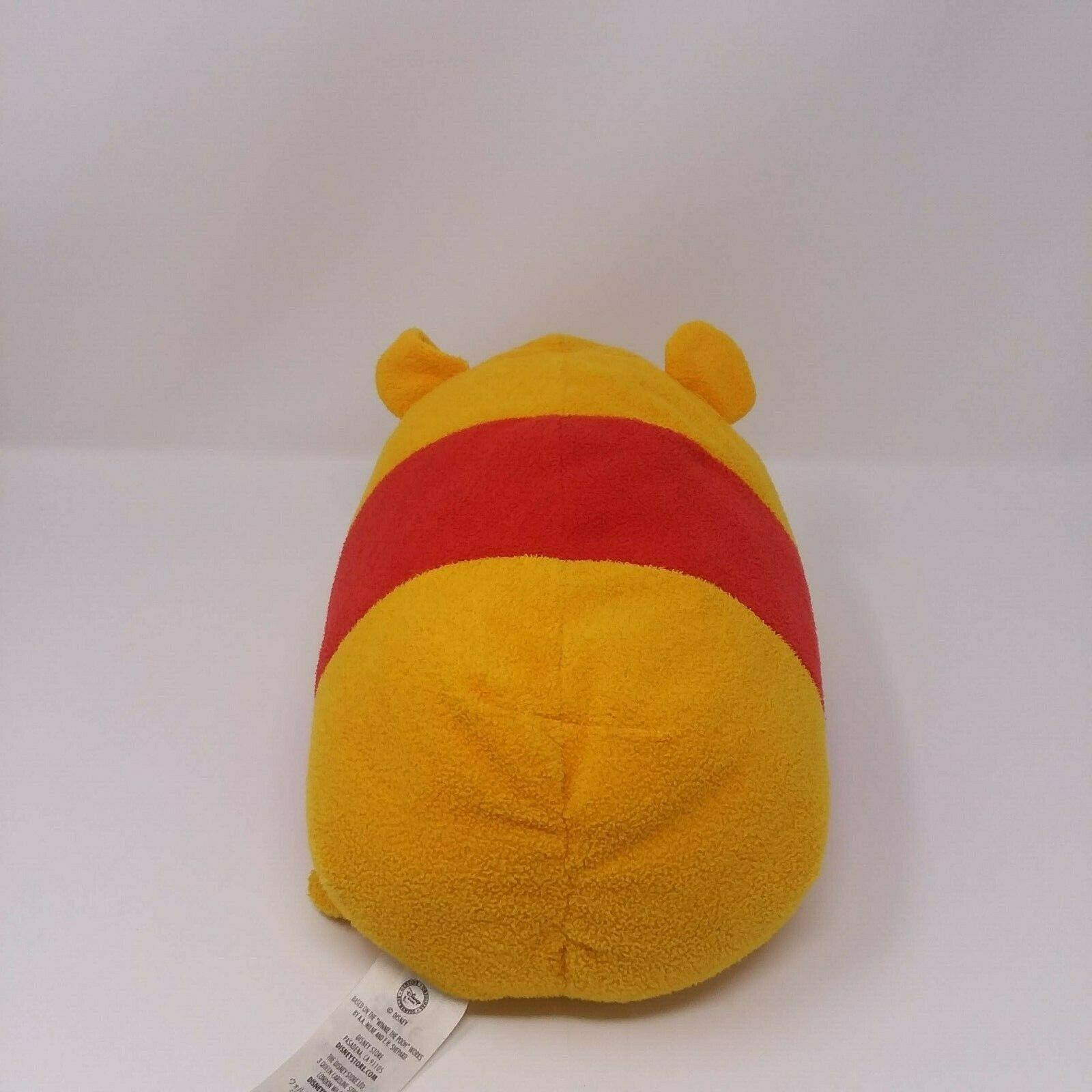 "Disney Store WINNIE THE POOH 11"" Plush Tsum Tsum  Large RARE Winking pillow"