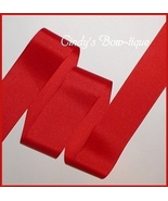 Extra Wide Red Grosgrain Ribbon, Red Grosgrain Ribbon Very Wide - $6.25