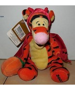 "Vintage Disney Store Winnie The Pooh 9"" TIGGER beanie plush stuffed toy ... - $10.63"