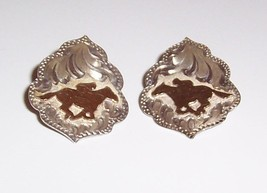 sterling Silver By Wanda  Running Horse Earrings / Pierced Earrings - $11.88