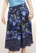 Adrianna Papell 11CS34970 Womens Blue Navy Lined Floral Pleat A Line Ski... - $30.99