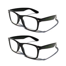 GloFX Ultimate Diffraction Glasses– Black (2 Pack) True-Flex PVC Frame Ravers DJ - $31.99